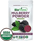 Biofinest Mulberry Juice Powder – 100% Pure Freeze-Dried Antioxidants Superfood – USDA Organic Vegan Raw Non-GMO – Boost Digestion Weight Loss – for Smoothie Beverage Blend (4 oz Resealable Bag)