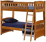 Night & Day Furniture Cinnamon Bunk, Twin Medium Oak Finish