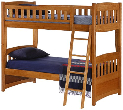 Night & Day Furniture Cinnamon Bunk, Twin Medium Oak Finish