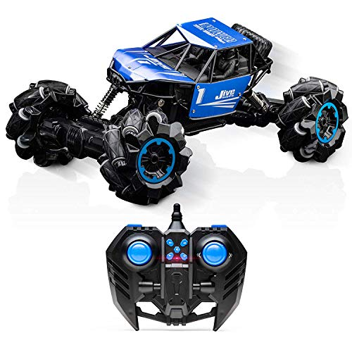 Jive RC Truck - Remote Control Truck, Monster Truck, Dancing RC Crawler 4x4, RC Cars for Kids (Blue) (Truck Monster 4x4 Rc)