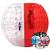Inflatable Bumper Bubble Soccer Ball, Giant Human Hamster Ball Knocker Ball for Adults & Teens, Body Bumper Dia 4ft/5 ft(1.2m/1.5m) with Repair kit[US Stock] (Red & White(1.5M))