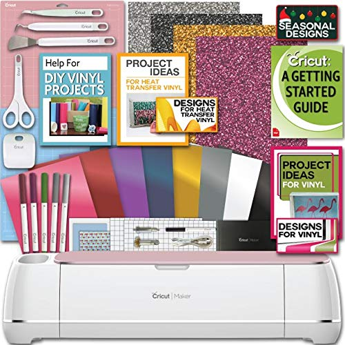 Cricut Maker Machine Bundle 1 Beginner Cricut Guide Smooth Heat Transfer Permanent Vinyl Tools Designs (Digital Printer For T Shirts For Sale)