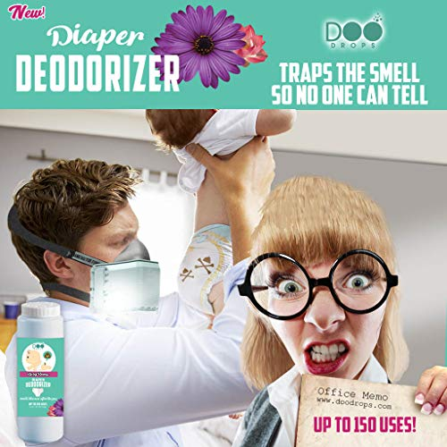 Doo Drops Diaper Odor Eliminator with Easy Applicator- Uses Safe and Powerful Deodorizer, Floral Scents, and Baking Soda to Absorb and Coat Odors - up to 150 Uses by Doo Drops (Image #5)