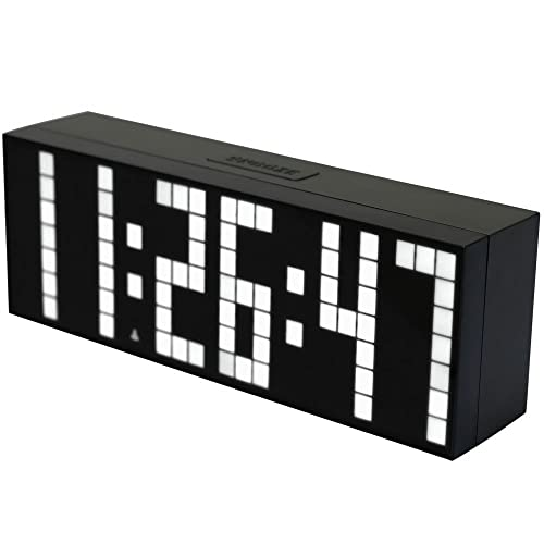 Bestland Digital Large Big Jumbo LED Snooze Wall Desk Alarm Clock with Thermometer Calendar Indoor Clock