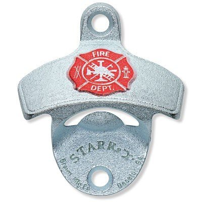 Bottle Wine Fireman (Embossed Fireman Shield Fire Department Wall Bottle Opener)