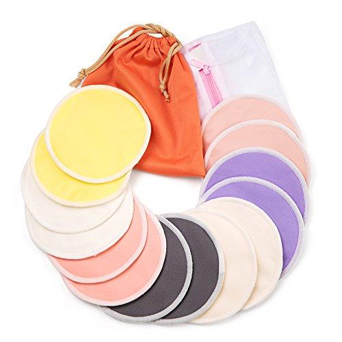 Washable Bamboo 4.7inch Nursing Pads(14 Pack)+Laundry Bag & Travel Bag, BALALA Reusable Nursing Pads(LARGE)