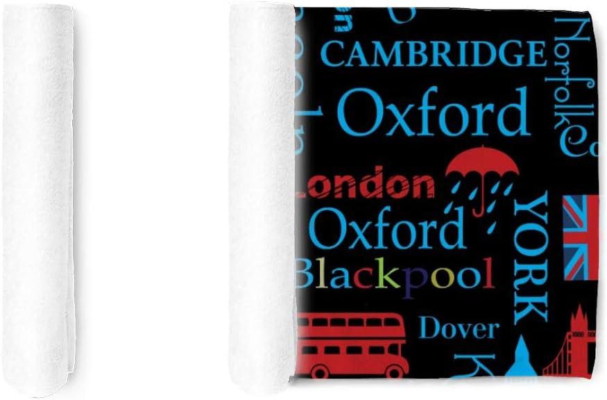 Pickids Serviettes de bain Motif abstrait Londres 76 x 38 cm