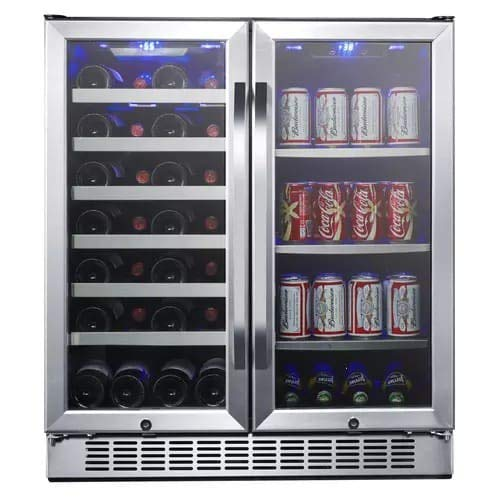 EdgeStar CWB2886FD 30-Inch Built-In Wine and Beverage Cooler with French Doors