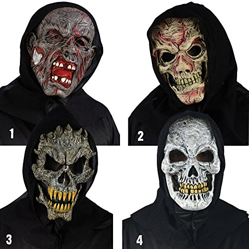 Fearsome Faces Hooded Bloody Creature Mask OSFM -