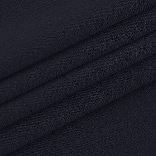 Bottoni Lunga Bluse Manica A E Lunghe da Donna Scozzese Eleganti Maniche Davanti Ansenesna Militare Bottoni A sul Marina con Camicia Donna Z7x1Cwddq