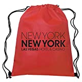 Red Non-Woven Drawstring Backpacks - 150 Quantity - PROMOTIONAL PRODUCT / BRANDED / BULK / CUSTOMIZED W/ YOUR LOGO - Red
