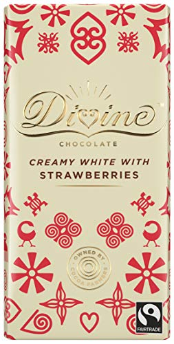 (Divine Chocolate - White Chocolate With Strawberries -)