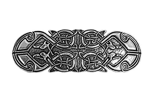Celtic Peacock Hair Clip | Hand Crafted Metal Barrette Made in the USA with imported French Clips By Oberon Design