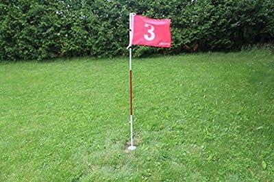 2sets A99Golf Hole cup set Backyard Practice Pole Cup Flag Stick Putting Pitch set #2 & #3