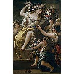 Oil Painting 'Giordano Luca La Diosa Flora Ca. 1697', 18 x 28 inch / 46 x 71 cm , on High Definition HD canvas prints is for Gifts And Living Room, Nursery And Study Room Decoration, HD