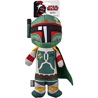 Star Wars Boba Fett Stick Dog Toy, Medium, 9 inches tall