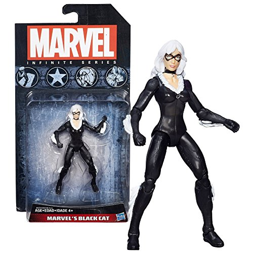 Marvel Hasbro Year 2014 Infinite Series 4 Inch Tall Action Figure Black CAT (aka Felicia -