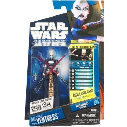 Star Wars 2010 Clone Wars Animated Action Figure CW No. 15 Asajj -