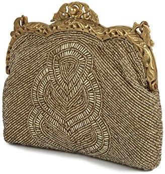 MyBatua Claire Dull oro antico dell'annata Borsa Dainty borsa ACP-086