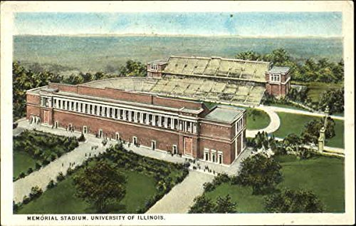 - Memorial Stadium, University of Illinois Champaign Original Vintage Postcard
