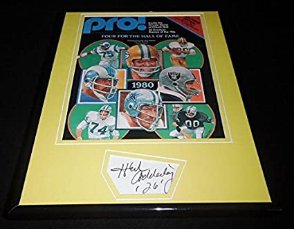 Image Unavailable. Image not available for. Color  Herb Adderley Signed  Framed 1980 Pro Hall of Fame Magazine Display Packers - JSA Certified - dfb52018d