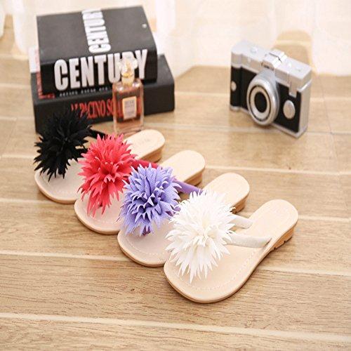 T Flower Slippers Ladies Beach Bohemian JULY Purple Slip Thong Flat Sandals Dress on Flops Summer Womens Flip wrIqpZRr