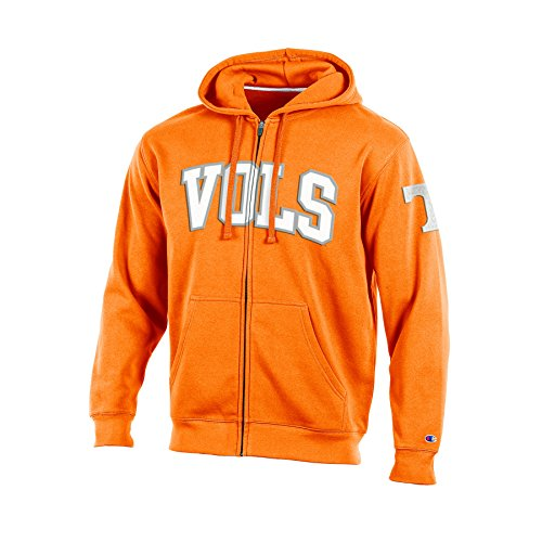 NCAA Tennessee Volunteers Adult Men Full Zip Hooded Fleece, X-Large, Orange (Hoodie Mens Tennessee)