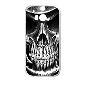 Diy Artistic Skull Phone Case for HTC One M8 White Shell Phone JFLIFE(TM) [Pattern-1]