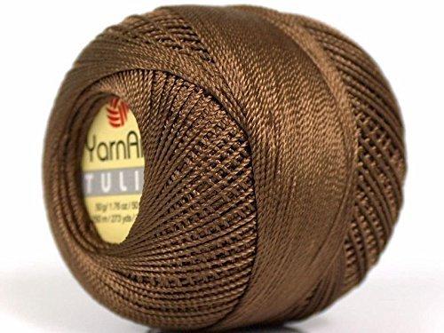 Brown Yarn Art Tulip Size 10 Microfiber Thread - 50 Gram, 273 Yards 17307