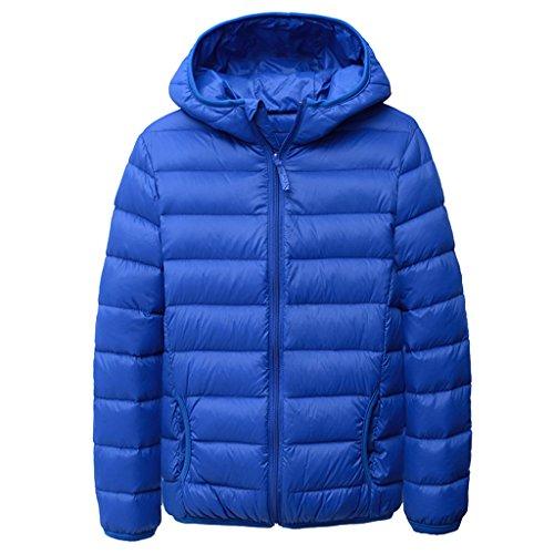 YISUMEI Big Boys Coats Thin Wool Hooded Blue 4