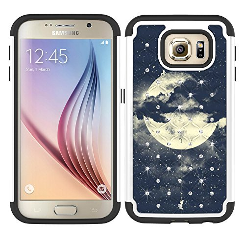 S7 Case, Galaxy S7 Case, MagicSky [Shock Absorption] Studded Rhinestone Bling Hybrid Dual Layer Armor Defender Protective Case Cover for Samsung Galaxy S7 (Night Sky)