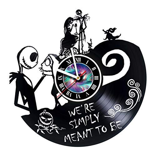 KravchArt Nightmare Before Christmas - Vinyl Record Wall Clock - Get Unique Gifts Presents for Birthday, Christmas, Ideas for Boys, Girls, Men, Women, Adults, him and her - Unique Design (Gifts To Get A Best Friend For Her Birthday)