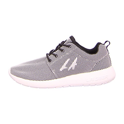 LA Gear L37-3611-01 - Zapatos de cordones de tela para mujer Negro - Black/Lt Grey