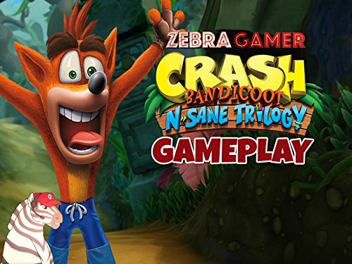 Clip: Crash Bandicoot N. Sane Trilogy Gameplay - Zebra Gamer on Amazon Prime Video UK