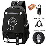 Best Backpack For High School Boys - Anime Backpack Luminous Backpack Boys School Backpack Noctilucent Review