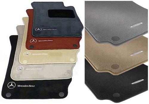 Mercedes-Benz Genuine OEM Carpeted Floor Mats Set for 2003-2009 CLK-Class Coupe models