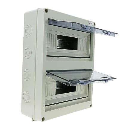 Cablematic - Caja de distribución eléctrica SPN 24M IP65 de Superficie de plástico ABS HT