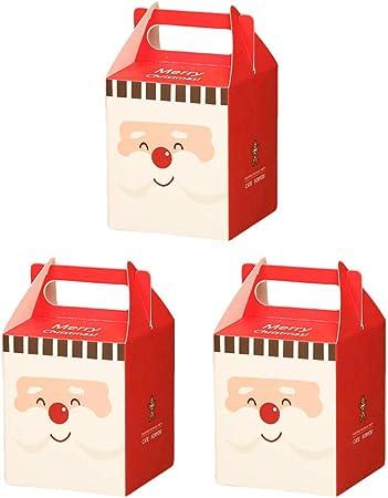 Da.Wa 3X Cajas de Regalo Cajas de Dulces Galletas Cajas de Regalo para Navidad Cumpleaños Vacaciones Bodas Rojo 8.5 * 8.5 * 10cm: Amazon.es: Hogar