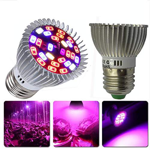 Ocamo LED Full Spectrum Plant Grow Light Lamp for Indoor Garden Greenhouse Supplies 10W E27