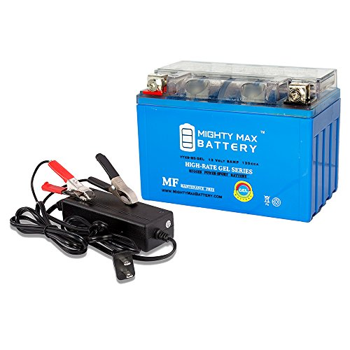 YTX9-BS GEL Replaces Honda VT600C CD Shadow 88-03 + 12V 2Amp Charger - Mighty Max Battery brand product (Vt600c Shadow)