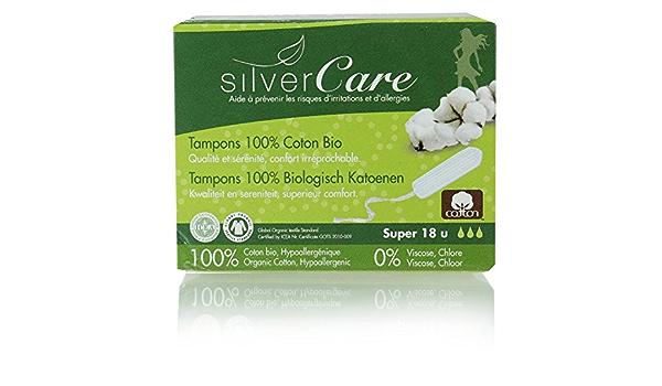 Silvercare - Sello sin aplicador, 100 % algodón orgánico ...
