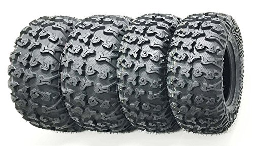 Set of 4 Premium FREE COUNTRY ATV/UTV Tires 25x8-12 Front & 25x10-12 Rear / 8PR (4 Wheeler Tires Atv)