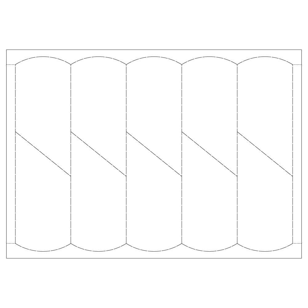 フラワーラベル (B) A4(10面付) レーザー印刷&筆記可能 100シート入り B0778YRBMR