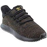 adidas Originals Kids' Tubular Shadow J Sneaker, Black/Back/ Back/ Gold Glitter, 5 M US Big Kid