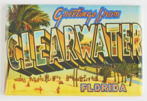 Greetings From Clearwater Florida Fridge Magnet (2 x 3 inches) ()