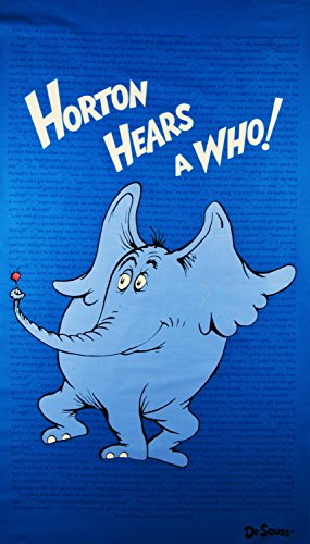 Dr. Seuss Panel Horton Hears a Who Fabric by the Panel