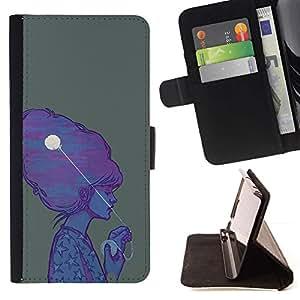 Momo Phone Case / Flip Funda de Cuero Case Cover - Hair Art Dibujo Pintura Peinado - Samsung Galaxy Core Prime