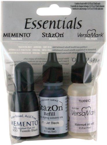 Craft Ink Refill - Tsukineko 3-Pack The Essential Inker Set