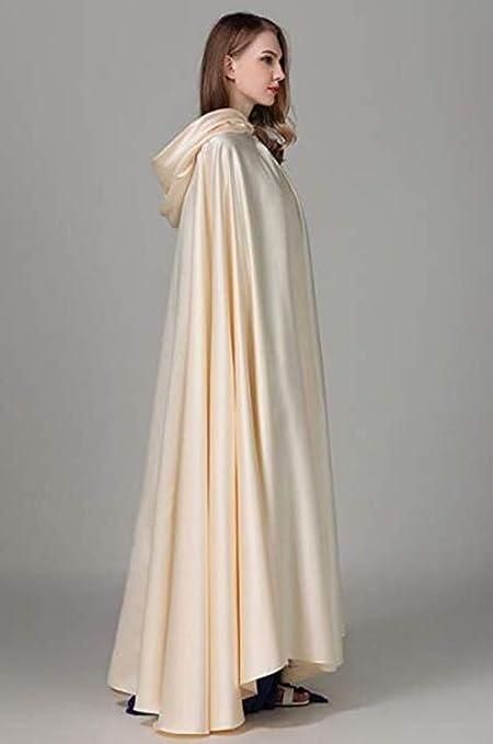 Mujer Invierno Cálido Cabo Novia Boda con capucha Cabo Fiesta Abrigo Manto de Navidad (Blanco): Amazon.es: Ropa y accesorios