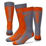 Texas Longhorns Big Top MisMatch Crew Socks Size Large 10-13 - For Bare Feet